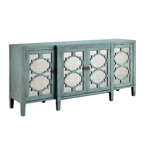 Found it at Wayfair - Carrie Breakfront Credenza 4 Door Accent Cabinet