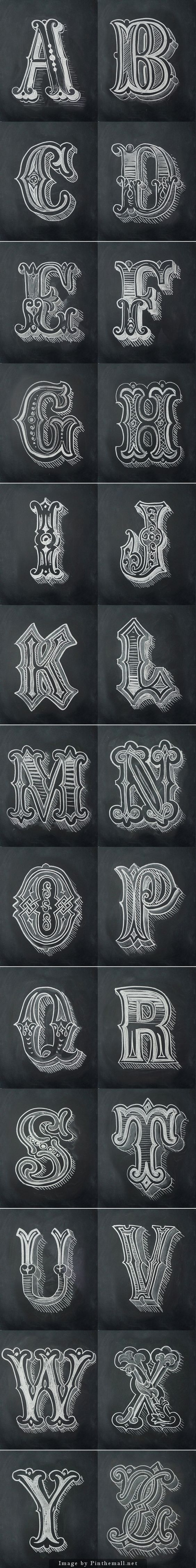 Chalk Alphabet by Antonio Rodrigues Jr... - a grouped images picture - Pin Them All