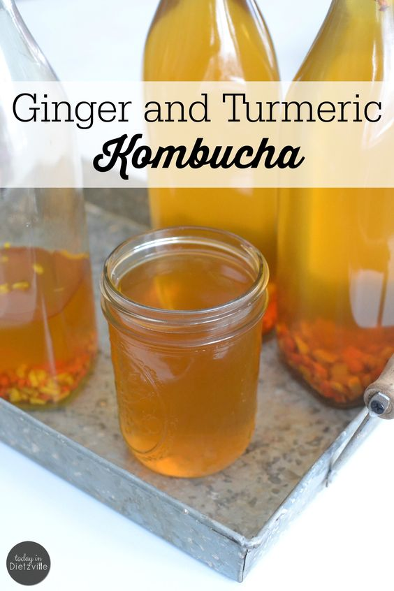 Ginger and Turmeric Kombucha   I've been sneaking in turmeric in all kinds of ways for the last year, and I don't see myself stopping any time soon. I love turmeric most of all for it's anti-inflammatory properties. In my mind, it's Nature's Tylenol. My favorite way to use turmeric now? Infusing its flavor and healing properties into my favorite beverage -- kombucha!   TodayInDietzville.com