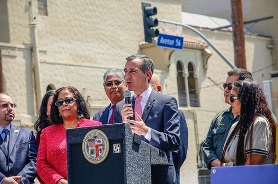 Mayor Garcetti 2016 Great Streets Challenge To Remake Los Angeles - http://anythingla.com/mayor-garcetti-2016-great-streets-challenge-to-remake-los-angeles/ -  Mayor Garcetti invites Angelenos to reimagine public spaces with 2016 Great Streets Challenge   Everyone has ideas for how to improve their local community, and Angelenos are being invited to turn vision into action. On September 21st 2016 Mayor Eric Garcetti launched a $2 million grant program that gives L.A.
