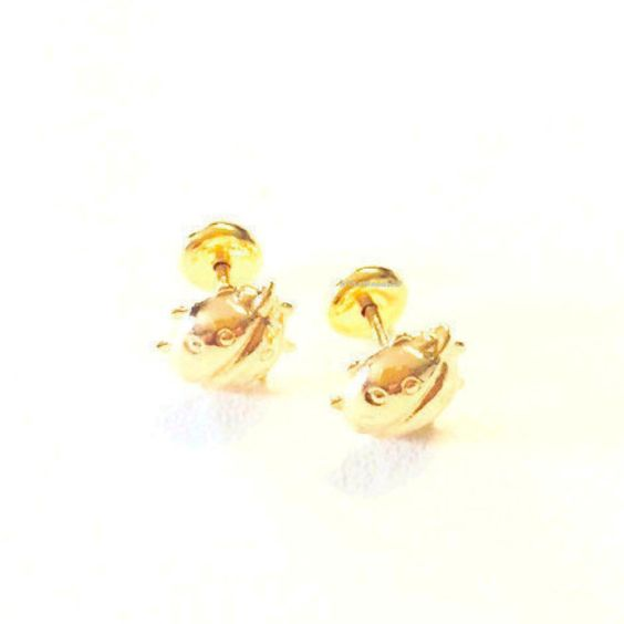 Lady Bug 18kts Gold Plated Earring Studs