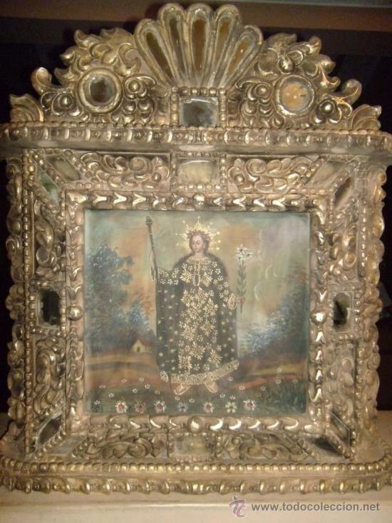 Muebles Antiguos Tallados En Madera : Importante retablo en pan de oro tallado antig?edades