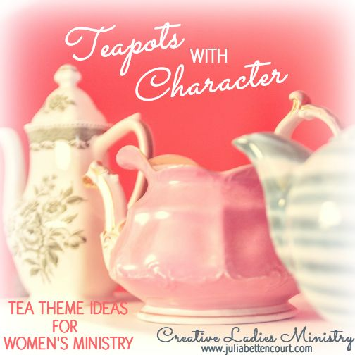 Tea Pots with character. A cute ladies yes theme | Church ...