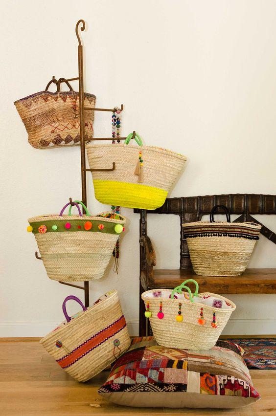 Decorando con Capazos..handmade summer bags: