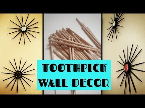 Diy Toothpick Wall Decor Toothpick Craft Idea Wall Decoration At Home Wall Hanging Craft Ideas Youtube Toothpick Crafts Wall Hanging Crafts Crafts