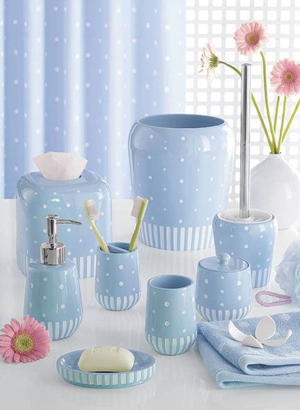Bathroom Set Blue Recherche Google ARTICLES DE BAINS - Pink and blue bathroom accessories