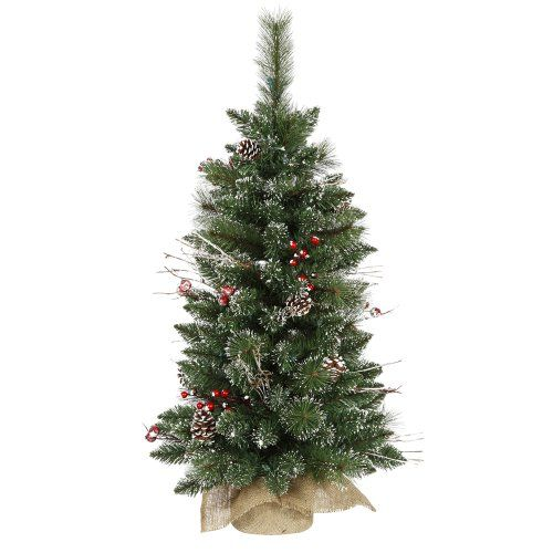 3 Snow Tipped Artificial Christmas Tree in Burlap Base  Unlit * Be sure to check out this awesome product.