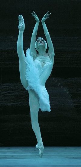 I think its Svetlana again, and she looks like she's doing Swan Lake. Wow. That girl's extention is marvelous.