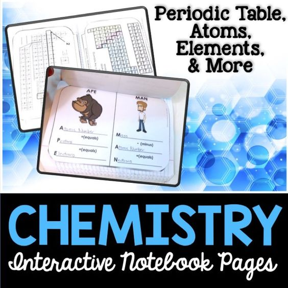 Chemistry Interactive Notebook Pages Student, Student journals and - best of periodic table with atomic mass