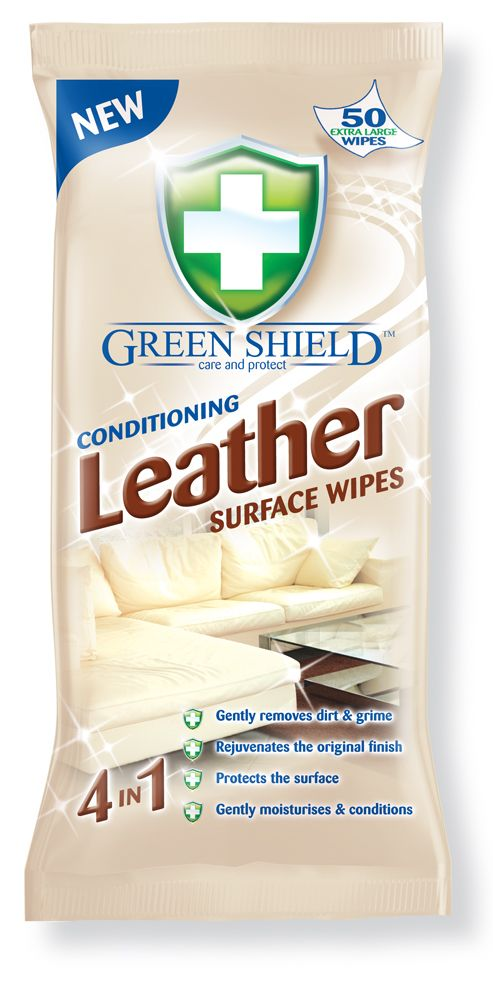 Greenshield Conditioning Leather Surface Wipes 50 S Hygiene Care Personal Hygiene Surface Wipes