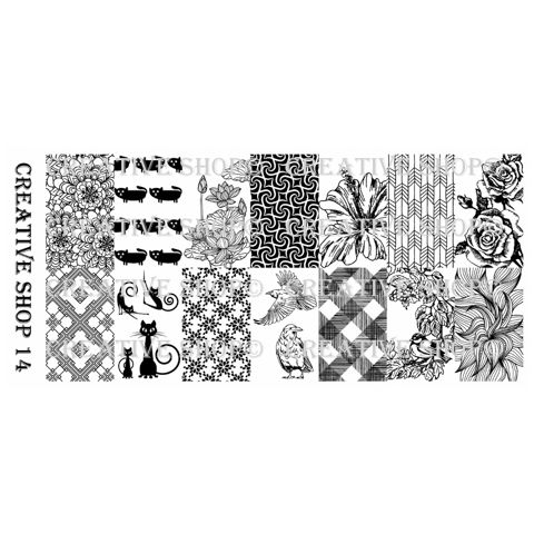 Creative Shop- Stamping Plate- 14