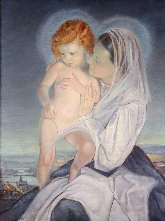 Ernesto Giuliano Armani (1898-1986) —  Madonna and Child (600x804):