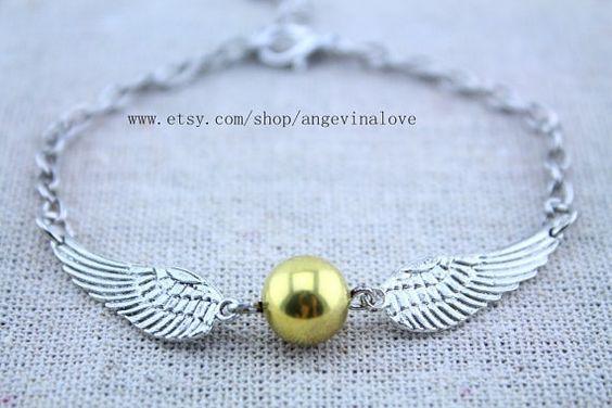 Das antike Bronze goldene Snitch-Armband harry Potter Schmuck Mode Geschenk auf Etsy, 2,07€