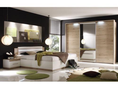 Fancy Details zu Schlafzimmer Dandy San Remo Wei Komplett Doppelbett Kleiderschrank Dandy
