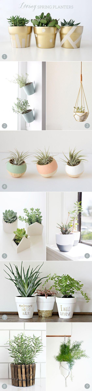 Des idées DIY tendances pour pots de fleurs.