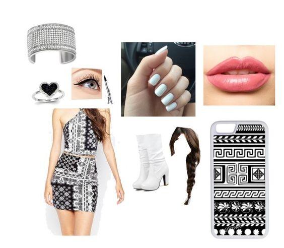 """❤️"" by nathaliabello on Polyvore featuring moda, Motel, LASplash, Kevin Jewelers, Swarovski, Luminess Air, CellPowerCases, women's clothing, women's fashion e women"
