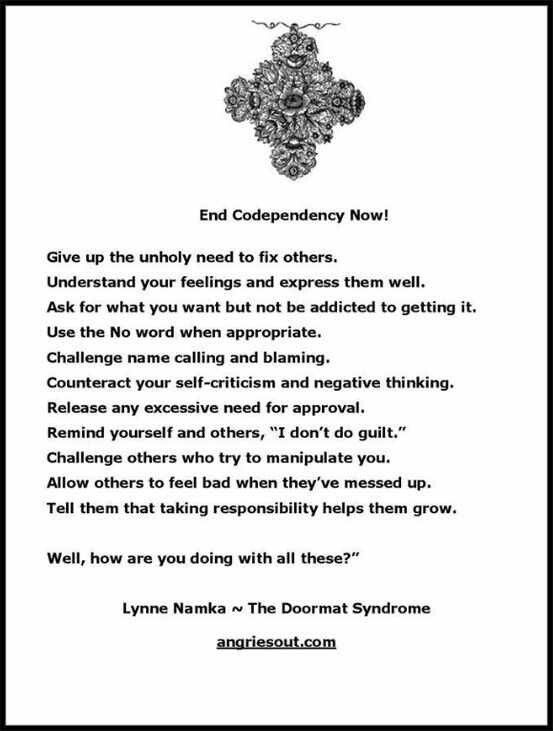 ending a codependent relationship definition