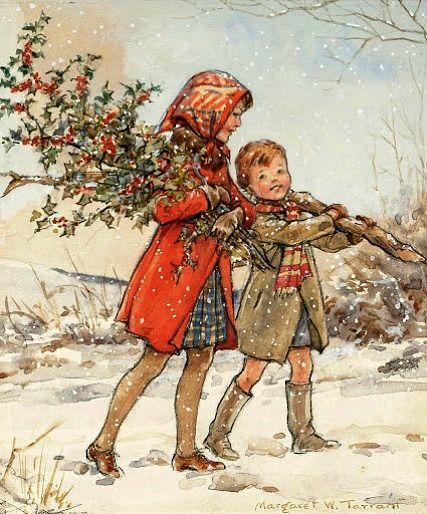 Margaret Tarrant - Gathering Holly