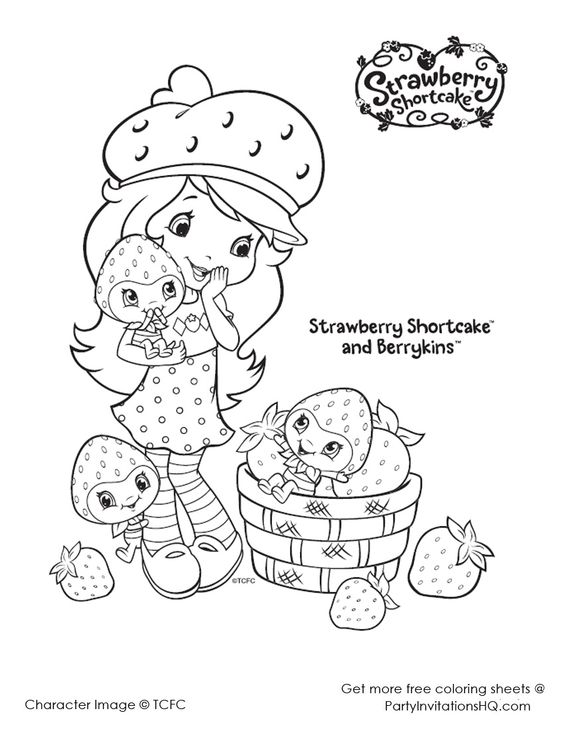 Strawberry Shortcake Friends Coloring Pages