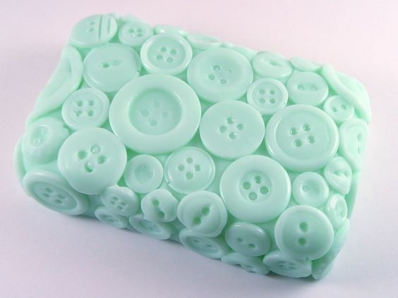 this is soap!    Fresh Laundry Button Soap  via HelloCrafty
