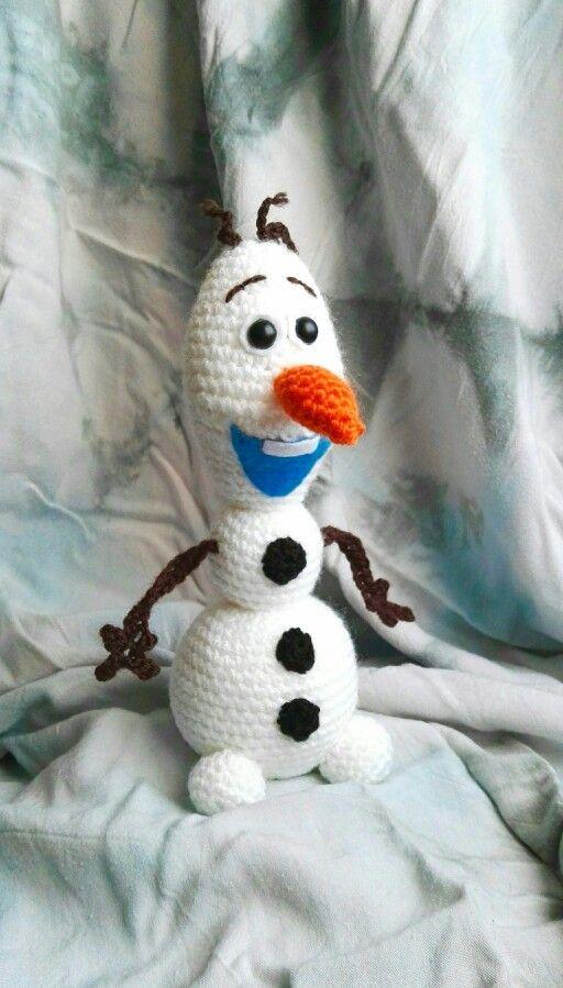 Olaf le bonhomme de neige au crochet artisanaix - Bonhomme de neige au crochet ...