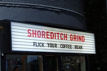 Shoreditch Grind. Coffee house.