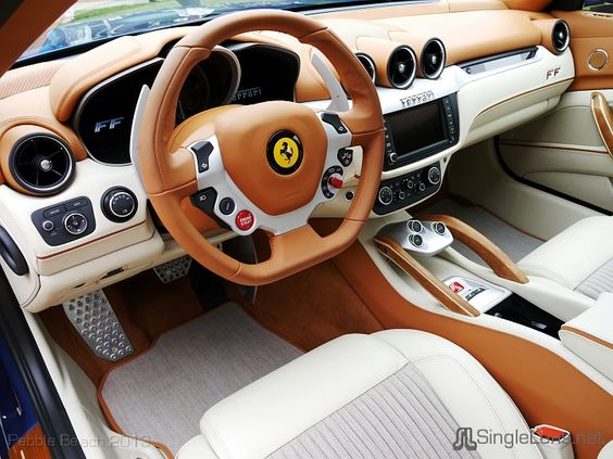 Wood Interior Car ferrari ff interior white and brown wood interior | auto addiction