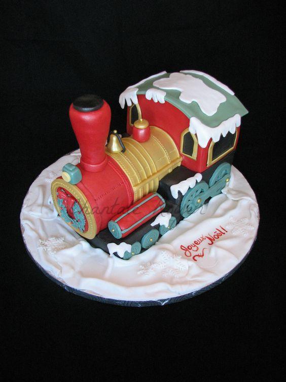 Christmas Cake Ideas Pinterest : Christmas cakes, Trains and Christmas on Pinterest