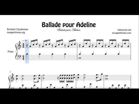 Balada Para Adelina Partitura De Piano Youtube Sheet Music Piano Sheet Music Easy Piano