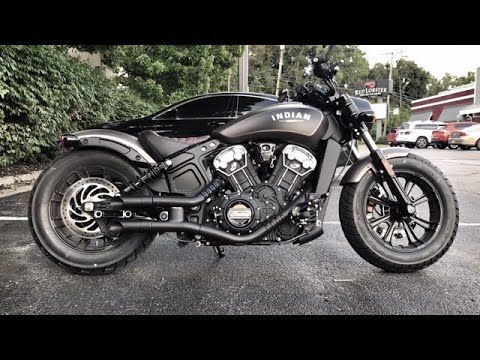 2018 Indian Scout Bobber Gp Style Exhaust With Images Indian