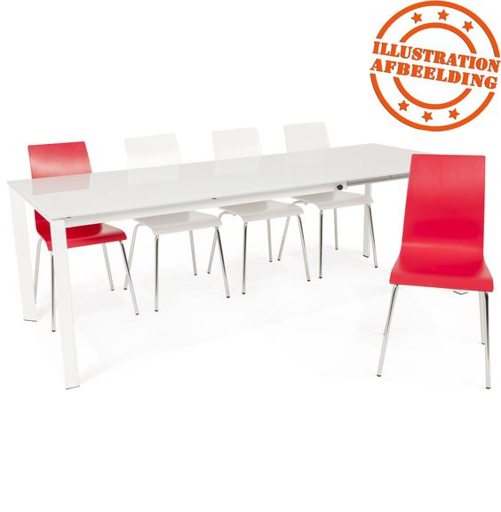 Design eetkamerstoel 'ESPERA' uit wit geverfd hout