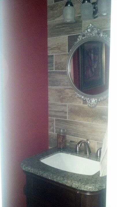 The beautiful bathroom my sweet husband did for me.
