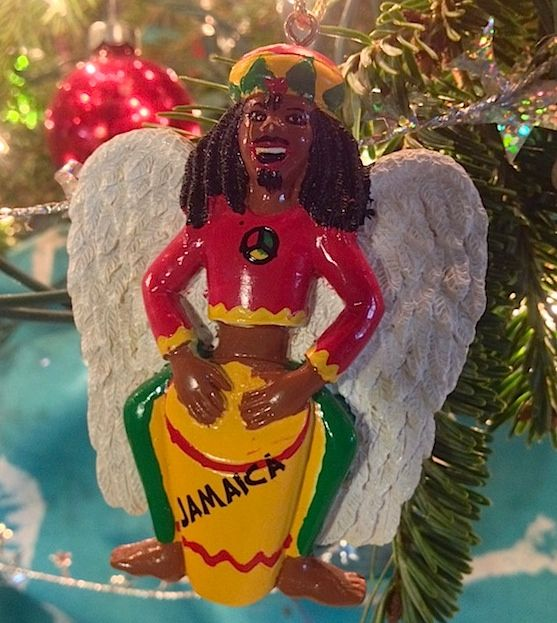 One of our favorite Christmas ornaments: a Rasta angel. #Jamaica ...