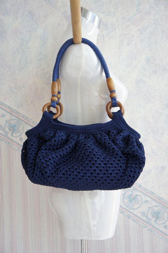 Crochet Bag Wooden Handle Pattern : Pinterest The world s catalog of ideas