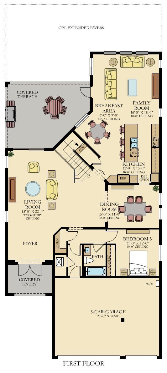 Tern New Home Plan In Bellasera The Piazza Collection By Lennar New House Plans Two Story House Plans Small House Plans