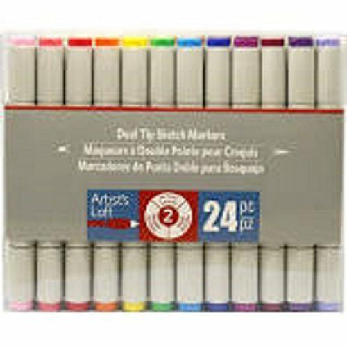Artist S Loft 24 Piece Dual Tips Sketch Markers Level 2 New Factory Sealed Artistsloft Sketch Markers Alcohol Markers Marker Paper