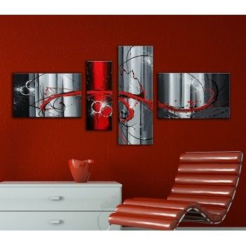 tableau dans les tons rouges noirs et gris home deco pinterest jets et rouge. Black Bedroom Furniture Sets. Home Design Ideas
