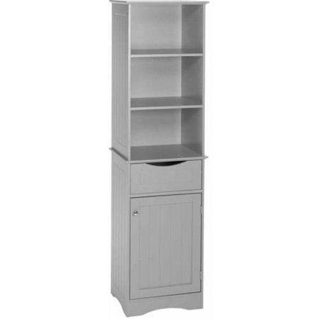 Riverridge Ashland Collection Tall Cabinet Gray Bathroom