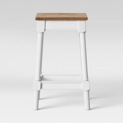 Awesome Salem Farmhouse Square Counter Stool White Threshold Caraccident5 Cool Chair Designs And Ideas Caraccident5Info