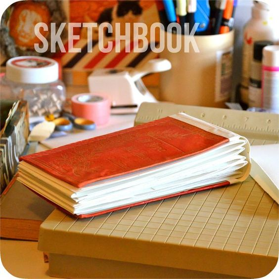 love this flip top sketchbook by Mary Ann Moss.