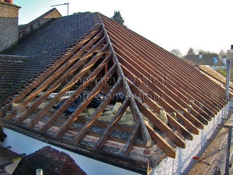 Hip End Of Existing Roof Is Removed Loft Conversion Roof Framing Hip Roof