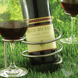 #wineenthusiast. pin it and win $250 shopping spree! Steady Sticks Outdoor Wine Bottle Holder