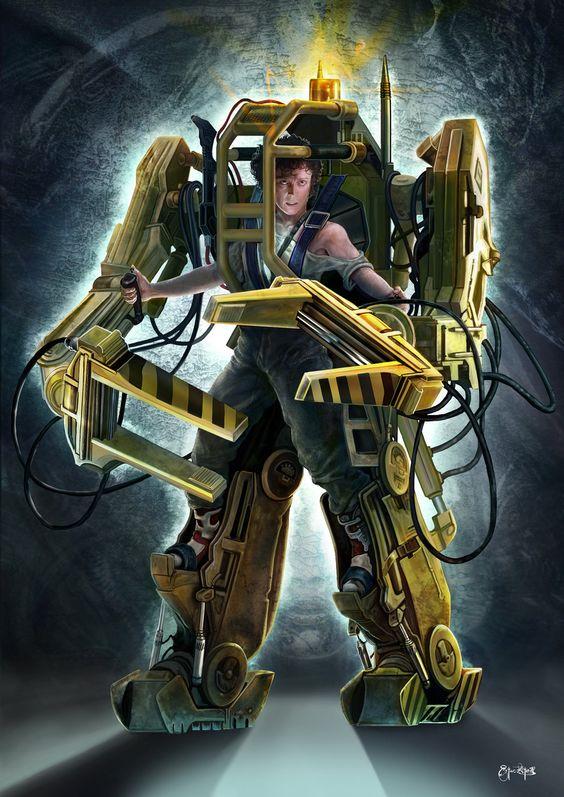 Sigourney Weaver Aliens Robot