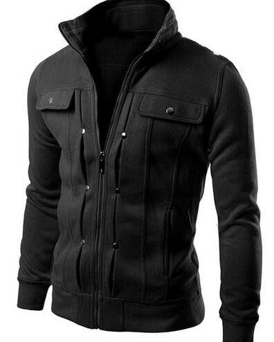 Men's Zip-Up Casual Jacket