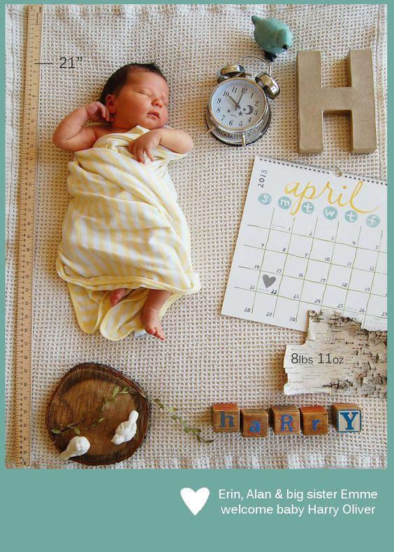15 best Birth and Pregnancy Announcement Photos images on – Birth Announcement Pinterest
