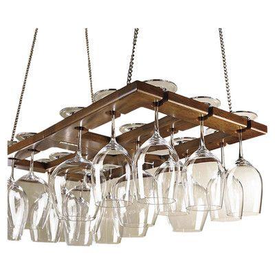 Charlton Home Benthey Hanging Wine Glass Rack