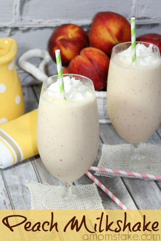 Cool off with a delicious peach milkshake! This recipe is a copycat of the Chick-fil-A limited time treat.