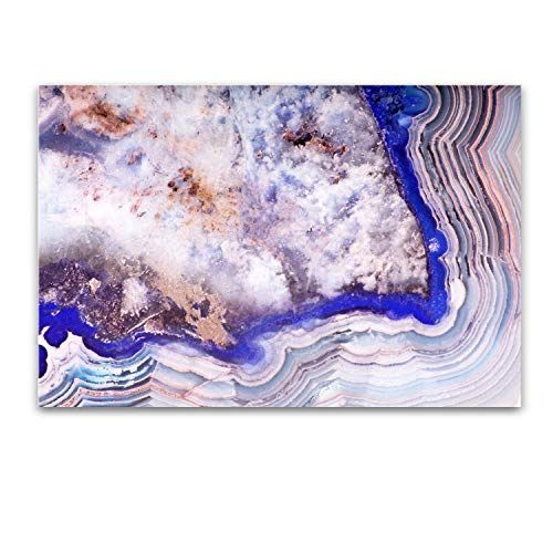 Startonight Glass Wall Art Abstract Layers In Blue Agate Tempered Acrylic Glass Artwork 24 X 36 Inches Startonight In 2020 Glass Artwork Glass Wall Art Artwork