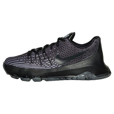 Nike KD 8 VIII Gs Big Kids 768867-001 Black Grey Basketball Shoes Youth Size