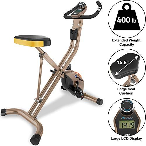 Best Exercise Bike Under 200 Exerpeutic Gold Foldable Upright